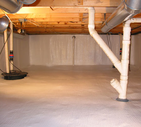 Final encapsulated crawl space