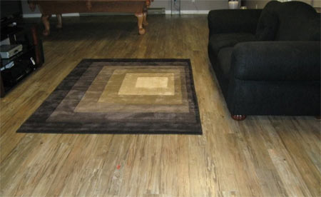 Vinyl plank flooring can offer some interesting and durable basement  flooring ideas.