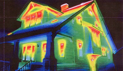 Infared Thermography of a house