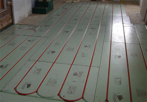 Bat Floor Radiant Heating System