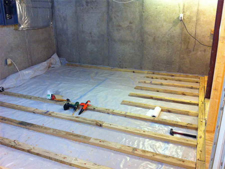 Basement questions basement flooring systems for What is best for basement flooring over concrete